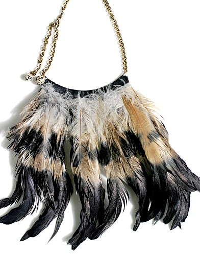 bijoux à plumes
