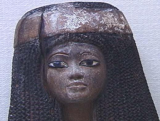 gravure pharaon egypte tresse