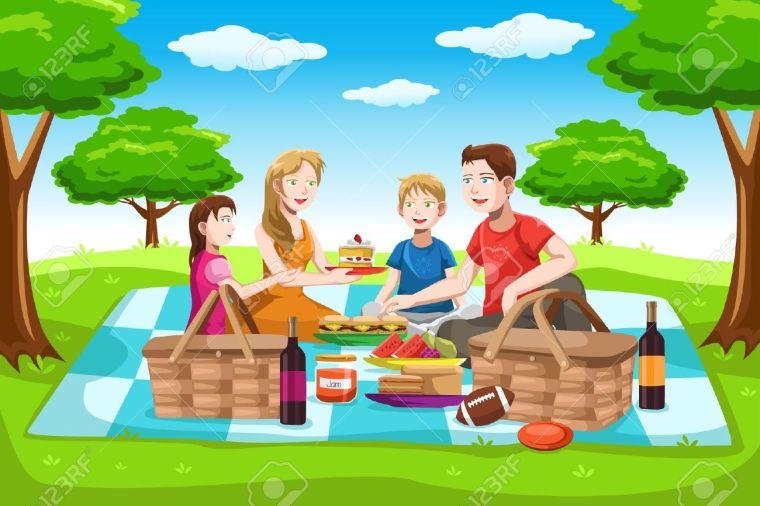 pique nique en famille