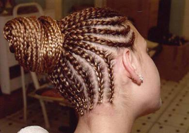 tresse africaine sur cheveux lisse