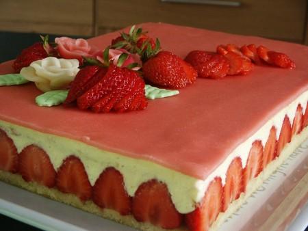 gateau fraisier pour maman