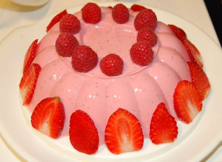 image bavarois aux fraises
