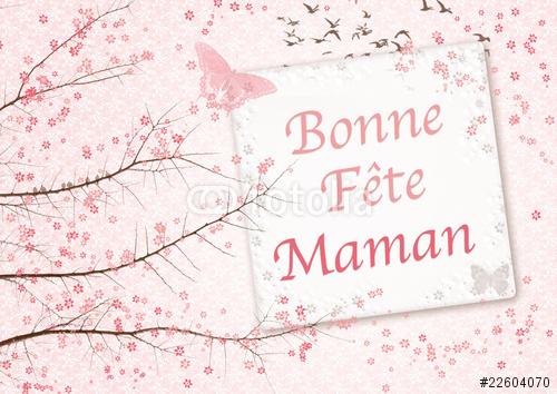 image carte de vœux bonne fête maman