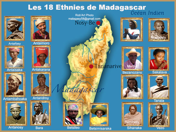 Les 18 ethnies de Madagascar