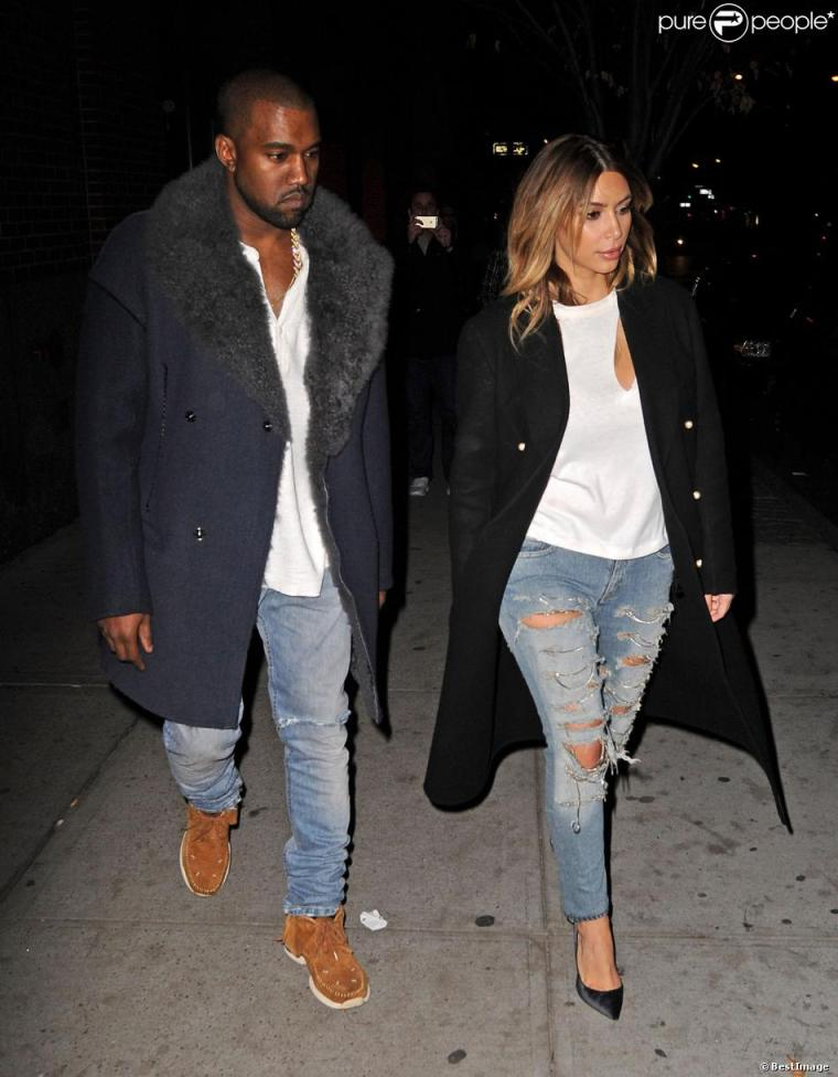 tenue couple assortie 4_kim Kardashian et Kanye West