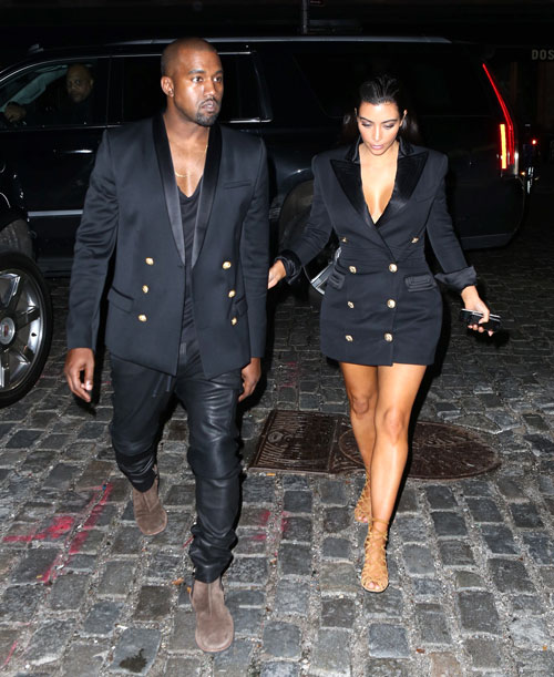 tenue couple assortie_Kim et Kanye