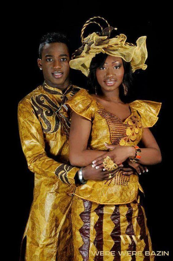 Tenue de couple assortie, c'est très en vogue aussi en Afrique