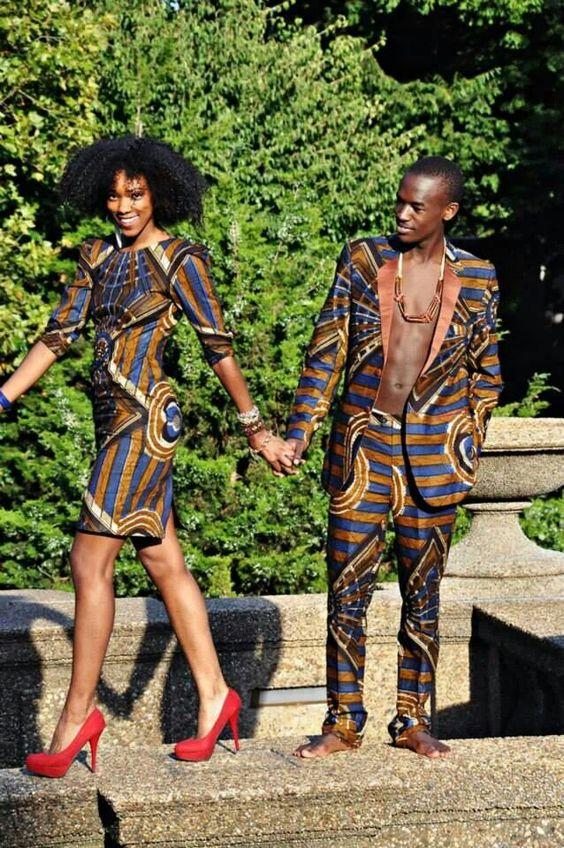 tenue de couple assortie en Afrique