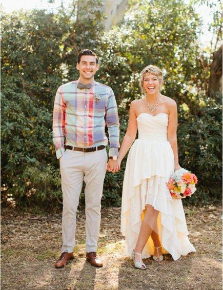 tenue de couple assortie pour assister à un mariage