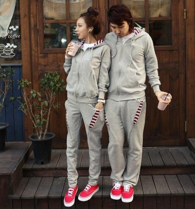 tenue de sport de couple assortie