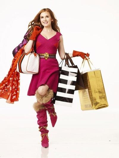 Au shopping, après que le garde-robe soit bien trié