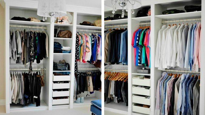 Bien ranger ses vêtements dans l'armoire sur deco.fr