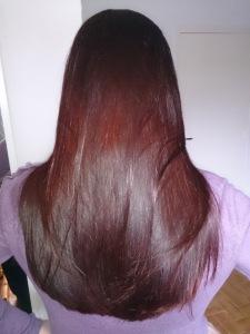 cheveux colorés au henné