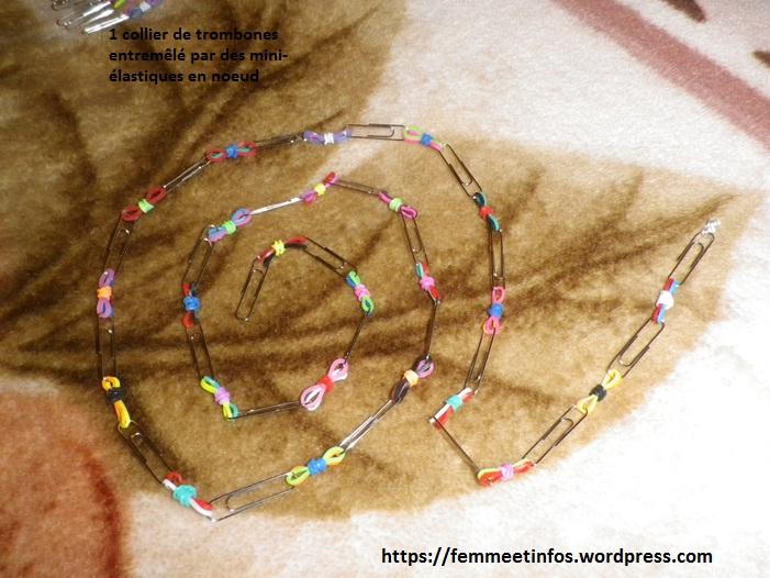 image collier de trombones