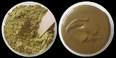 poudre de henné transformé en pâte