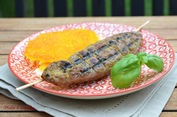 Brochettes de bœuf à l'iranienne -Chelo kebab koobideh