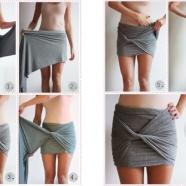 DIY jupe écharpe XXL sur Bien Habillée