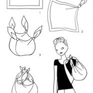 DIY sac maxi avec écharpe XXL sur Bien Habillée