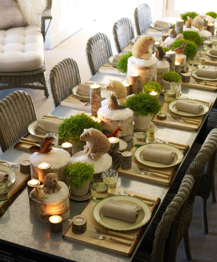 table-de-noel-style-naturel-sur-pinterest