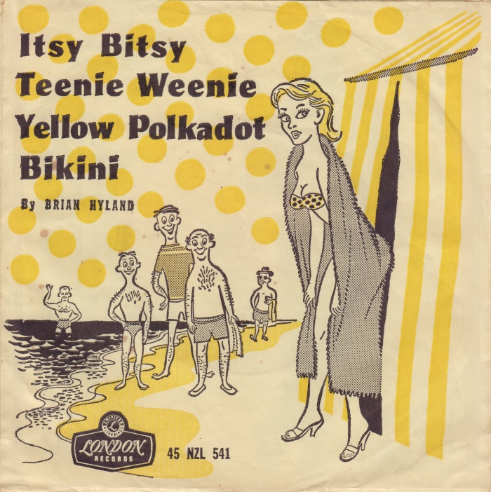 Itsy bitsy tini mini yellow polka dot bikini