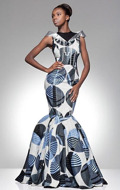 robe sirène vlisco
