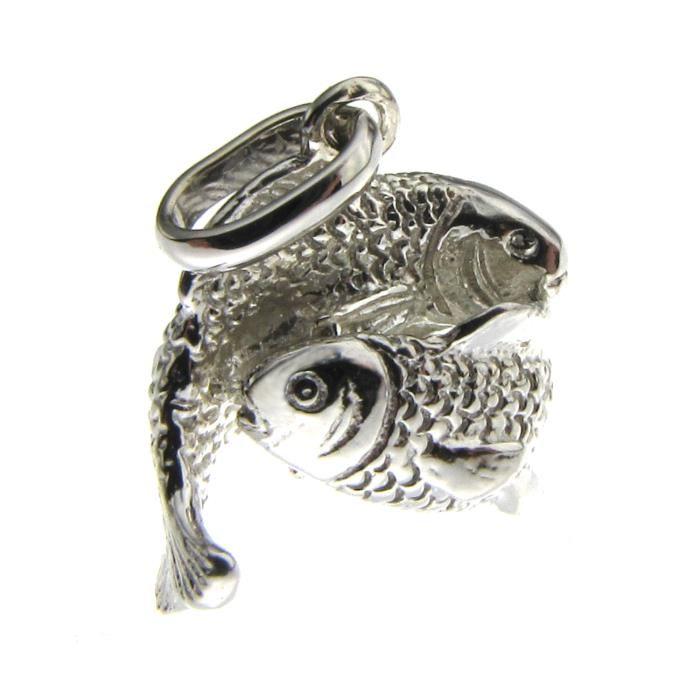 signe de zodiaque poissons en pendentif