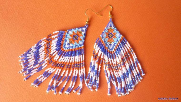 bijoux boho waksu_boucles d'oreilles tissées en perles de rocaille 1
