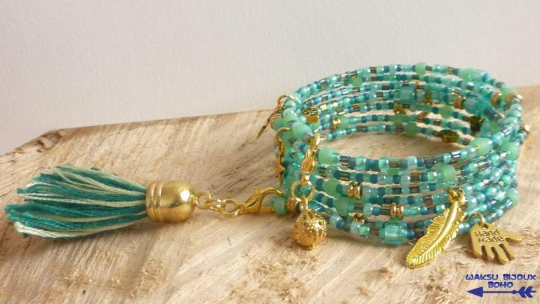 bijoux boho waksu_bracelet mémoire de forme