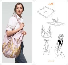 faire un sac foulard
