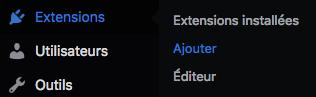 menu extension wordpress