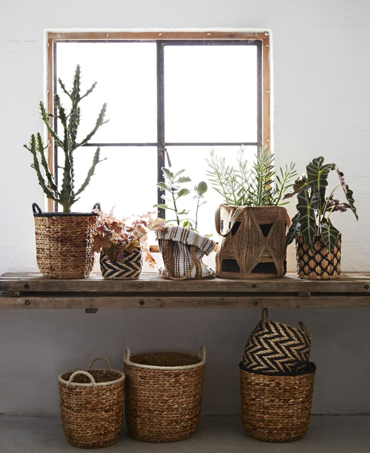 déco plantes d'intérieur dans des pots personnalisés