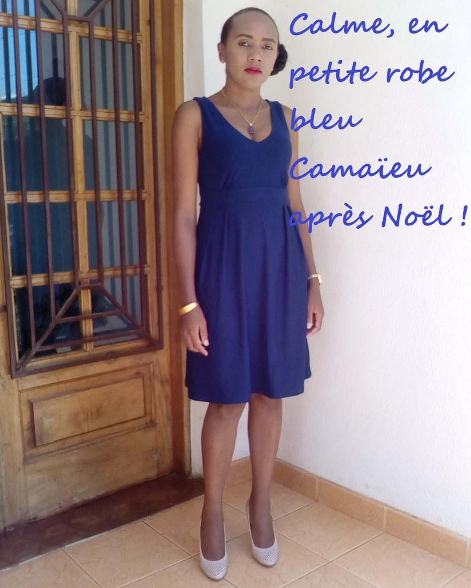 fb303e4368a572 En petite robe bleu Camaïeu après la fête de Noël ! – Blog Femme & Infos