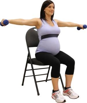 exercices pectoraux femme enceinte