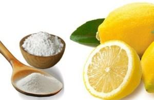 masque citron et bicarbonate de soude