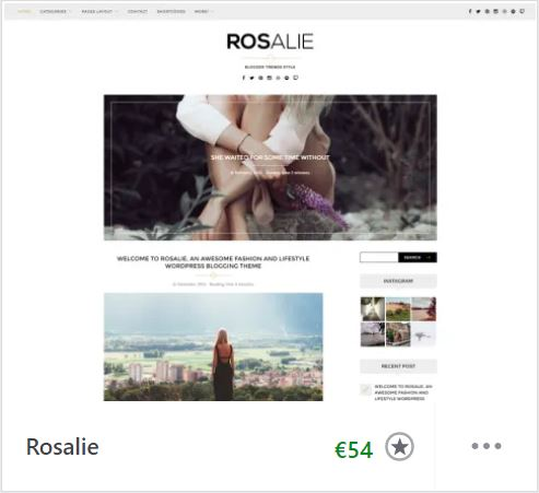 thème rosalie wordpress